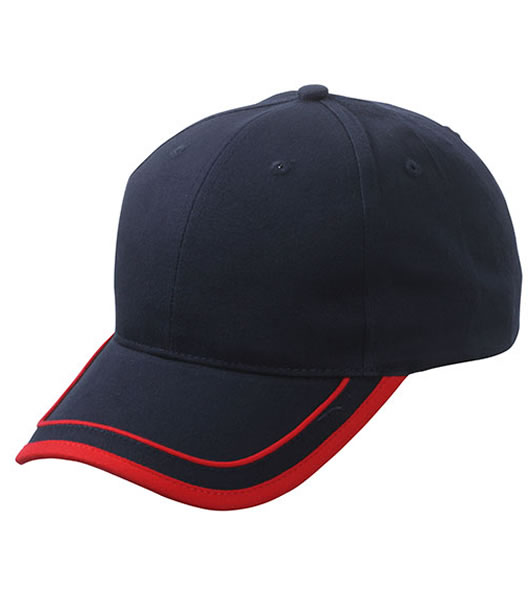 Czapka MB6501 Piping Cap - 6501_navy_red_MB - Kolor: Navy / Red