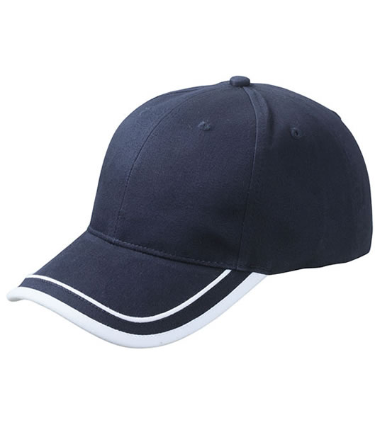 Czapka MB6501 Piping Cap - 6501_navy_white_MB - Kolor: Navy / White
