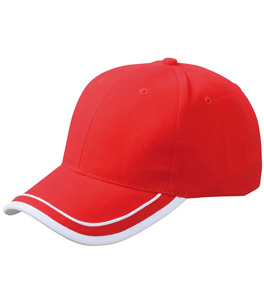Czapka MB6501 Piping Cap - 6501_red_white_MB - Kolor: Red / White