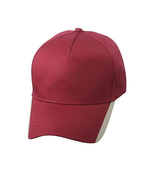 Czapka MB6502 Two Tone Cap - 6502_burgundy_khaki_MB - Kolor: Burgundy / Khaki
