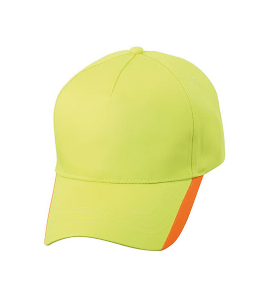 Czapka MB6502 Two Tone Cap - 6502_sunnylime_orange_MB - Kolor: Sunny lime / Orange