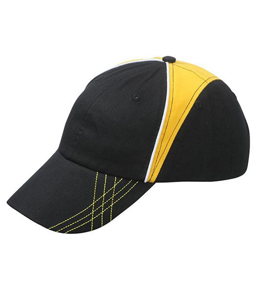 Czapka MB6504 Arrow Cap - 6504_black_goldyellow_white_MB - Kolor: Black / Gold yellow / White
