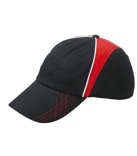 Czapka MB6504 Arrow Cap - 6504_black_red_white_MB - Kolor: Black / Red / White