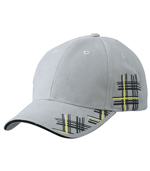 Czapka MB6525 High Frequency Cap - 6525_darkgrey_black_yellow_MB - Kolor: Dark grey / Black / Yellow