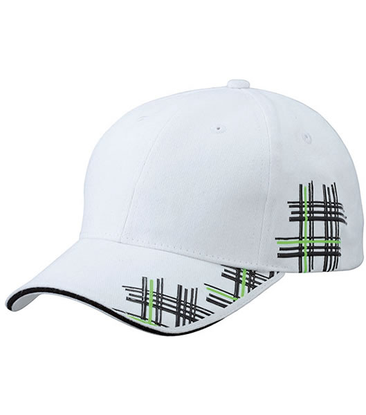 Czapka MB6525 High Frequency Cap - 6525_white_black_limegreen_MB - Kolor: White / Black / Lime green