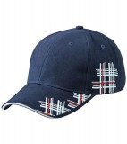 Czapka MB6525 High Frequency Cap - 6525_navy_white_red_MB Navy / White / Red