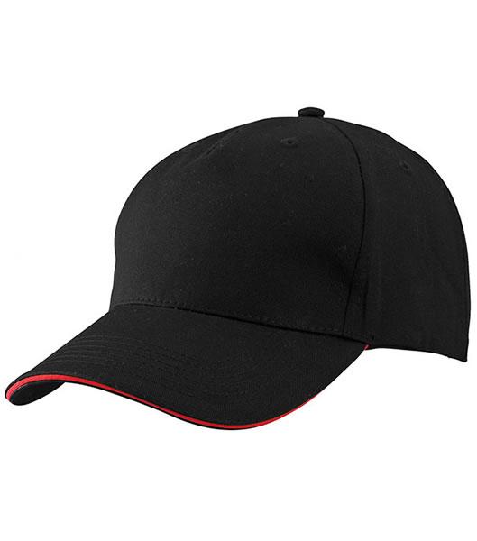 Czapka MB6526 5 Panel Sandwich Cap - 6526_black_red_MB - Kolor: Black / Red