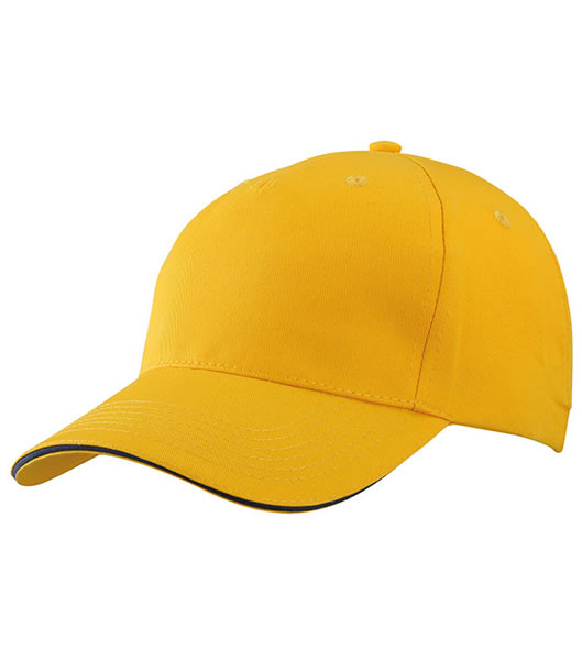 Czapka MB6526 5 Panel Sandwich Cap - 6526_goldyellow_navy_MB - Kolor: Gold yellow / Navy