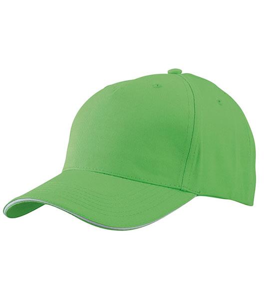 Czapka MB6526 5 Panel Sandwich Cap - 6526_limegreen_white_MB - Kolor: Lime green / White