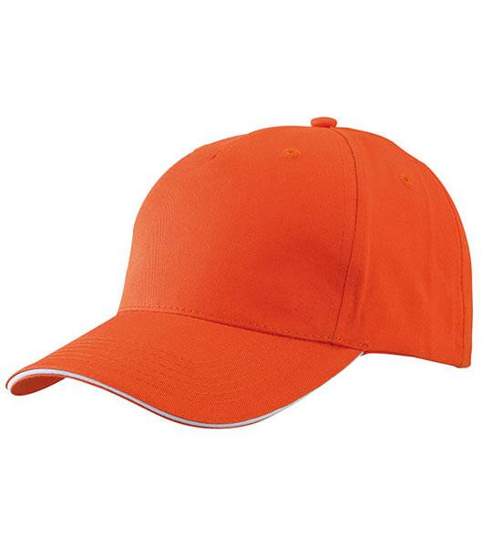 Czapka MB6526 5 Panel Sandwich Cap - 6526_orange_white_MB - Kolor: Orange / White