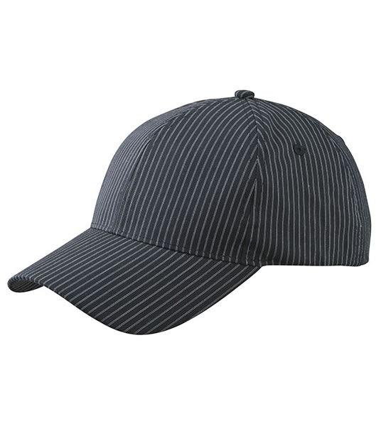 Czapka MB6535 6 Panel Striped Cap - 6535_black_white_MB - Kolor: Black / White