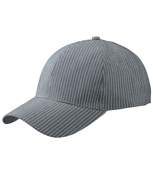 Czapka MB6535 6 Panel Striped Cap - 6535_grey_white_MB - Kolor: Grey / White