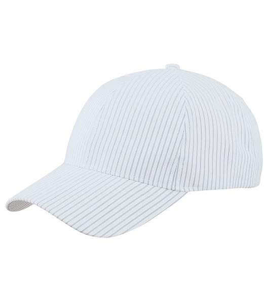 Czapka MB6535 6 Panel Striped Cap - 6535_white_navy_MB - Kolor: White / Navy