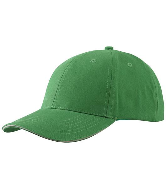 Czapka MB6541 Light brushed Sandwich Cap - 6541_green_beige_MB - Kolor: Green / Beige