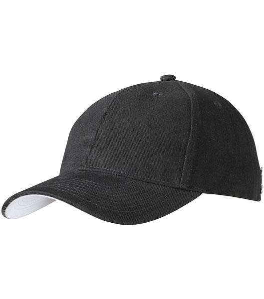 Czapka MB6553 Badge Cap - 6553_black_lightgrey_MB - Kolor: Black / Light grey
