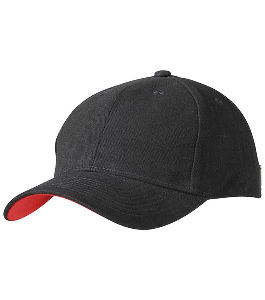 Czapka MB6553 Badge Cap - 6553_black_red_MB - Kolor: Black / Red