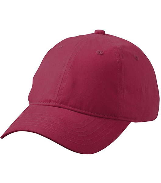 Czapka MB6554 6 Panel Base Cap - 6554_burgundy_MB - Kolor: Burgundy