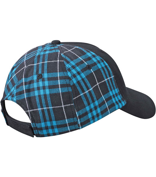 Czapka MB6558 Checked Cap - 6558_black_turquoise_MB - Kolor: Black / Turquosie