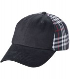 Czapka MB6558 Checked Cap - 6558_black_black_MB Black / Black