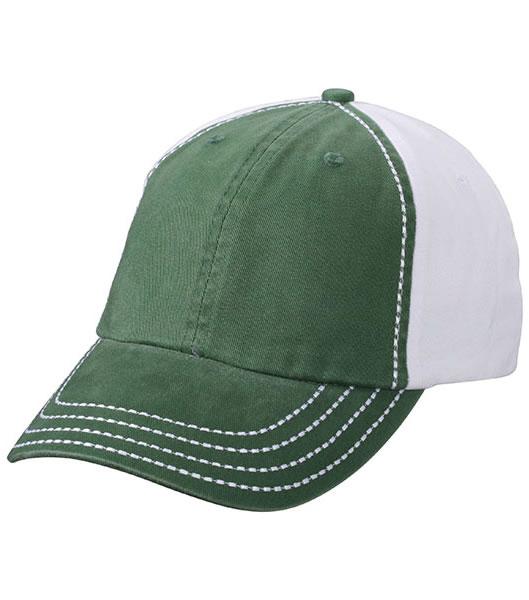 Czapka MB6559 College Cap - 6559_darkgreen_white_MB - Kolor: Dark green / White
