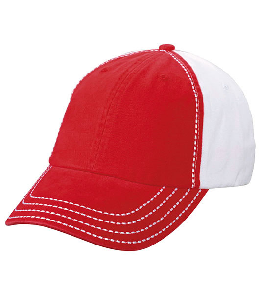Czapka MB6559 College Cap - 6559_red_white_MB - Kolor: Red / White