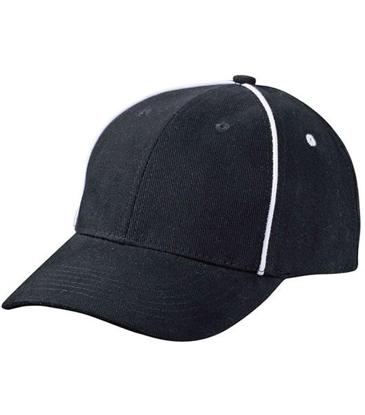 Czapka MB6562 Piping Cap - 6562_black_white_MB - Kolor: Black / White