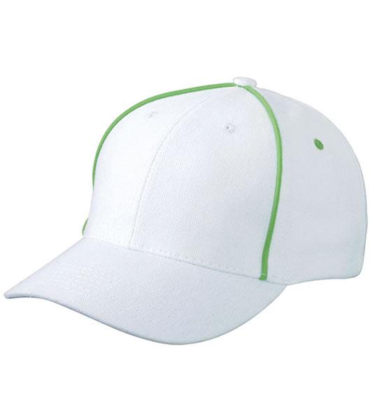 Czapka MB6562 Piping Cap - 6562_white_limegreen_MB - Kolor: White / Lime green