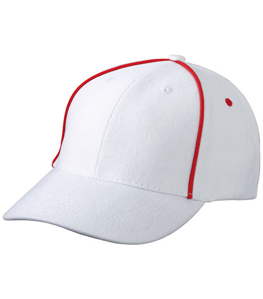 Czapka MB6562 Piping Cap - 6562_white_red_MB - Kolor: White / Red