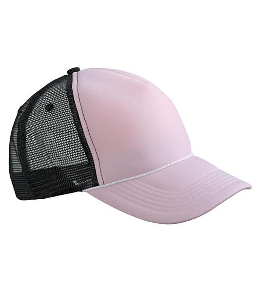 Czapka MB6550 Retro Mesh Cap - 6550_babypink_black_MB - Kolor: Baby pink / Black