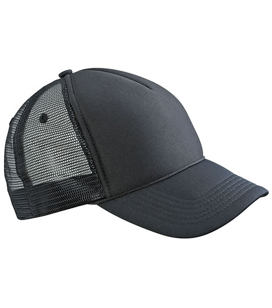 Czapka MB6550 Retro Mesh Cap - 6550_black_black_MB - Kolor: Black / Black