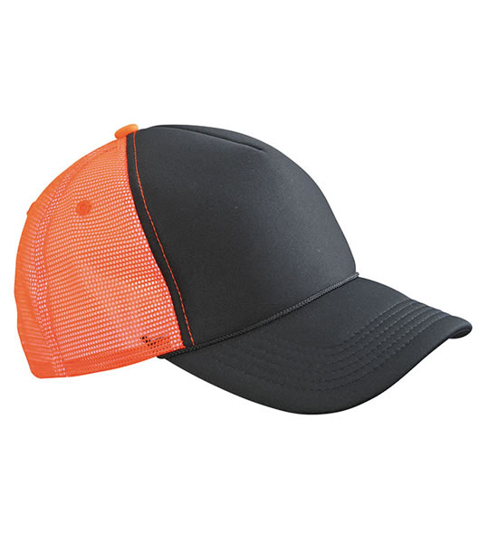 Czapka MB6550 Retro Mesh Cap - 6550_black_neonorange_MB - Kolor: Black / Neon orange