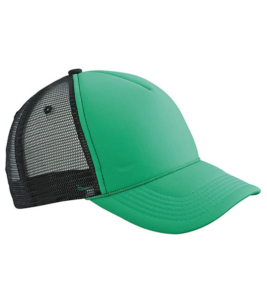 Czapka MB6550 Retro Mesh Cap - 6550_green_black_MB - Kolor: Green / Black