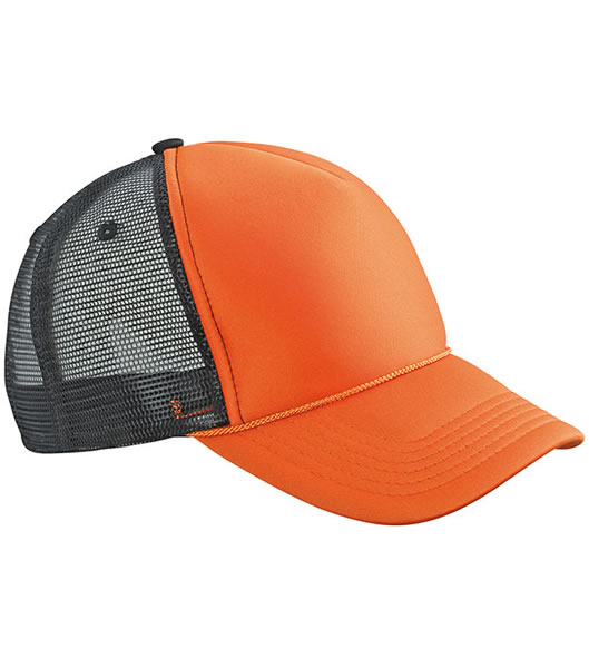 Czapka MB6550 Retro Mesh Cap - 6550_orange_black_MB - Kolor: Orange / Black