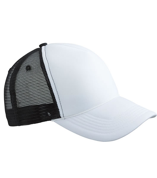 Czapka MB6550 Retro Mesh Cap - 6550_white_black_MB - Kolor: White / Black