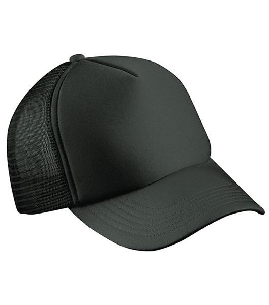 Czapka MB070 5 Panel Polyester Mesh Cap - 070_black_MB - Kolor: Black