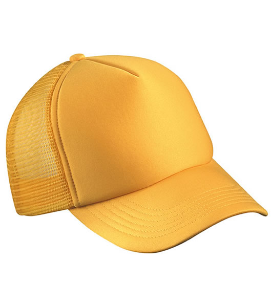 Czapka MB070 5 Panel Polyester Mesh Cap - 070_gold_yellow_MB - Kolor: Gold yellow