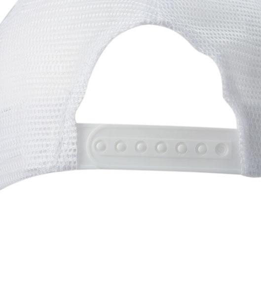 Czapka MB070 5 Panel Polyester Mesh Cap - 070_detale_MB - Kolor: White