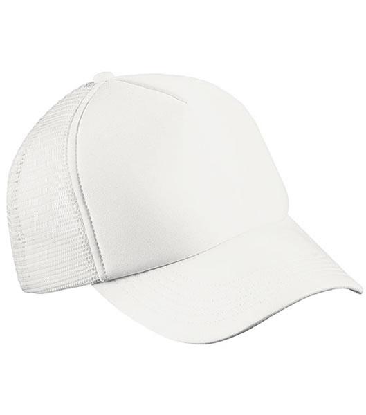 Czapka MB070 5 Panel Polyester Mesh Cap - 070_white_MB - Kolor: White