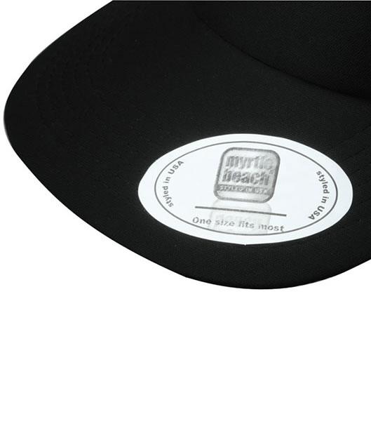 Czapka MB6508 5 Panel Flat Peak Cap - 6508_detale_MB - Kolor: Black