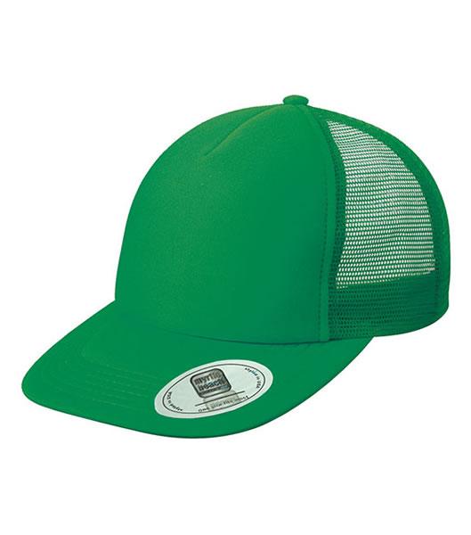 Czapka MB6508 5 Panel Flat Peak Cap - 6508_green_MB - Kolor: Green