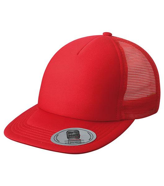 Czapka MB6508 5 Panel Flat Peak Cap - 6508_red_MB - Kolor: Red