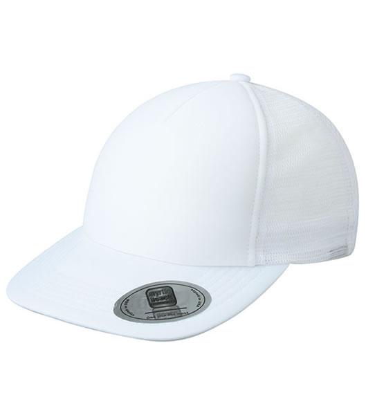 Czapka MB6508 5 Panel Flat Peak Cap - 6508_white_MB - Kolor: White