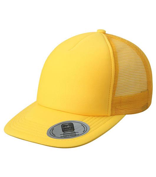 Czapka MB6508 5 Panel Flat Peak Cap - 6508_yellow_MB - Kolor: Yellow