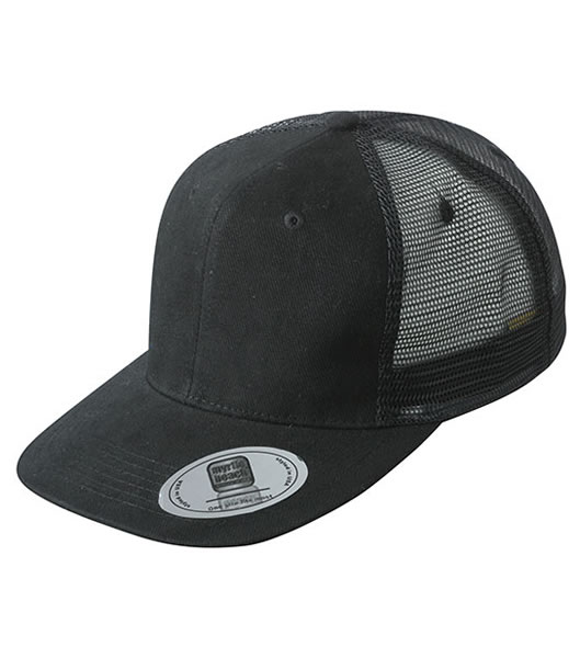 Czapka MB6509 6 Panel Flat Peak Cap - 6509_black_MB - Kolor: Black