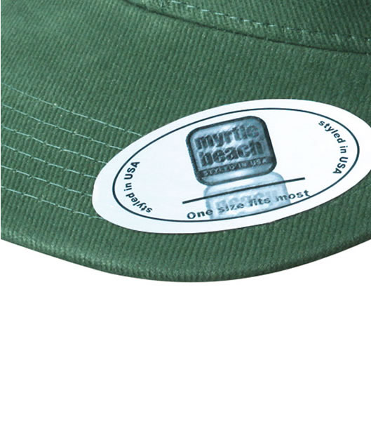 Czapka MB6509 6 Panel Flat Peak Cap - 6509_detale_MB - Kolor: Dark green