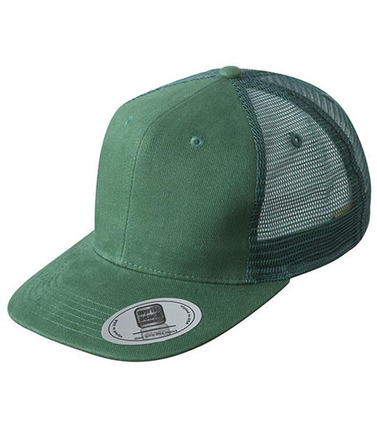 Czapka MB6509 6 Panel Flat Peak Cap - 6509_dark_green_MB - Kolor: Dark green