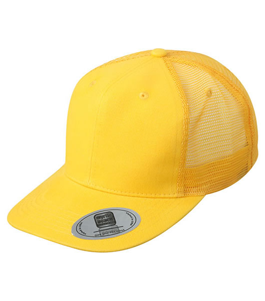 Czapka MB6509 6 Panel Flat Peak Cap - 6509_gold_yellow_MB - Kolor: Gold yellow