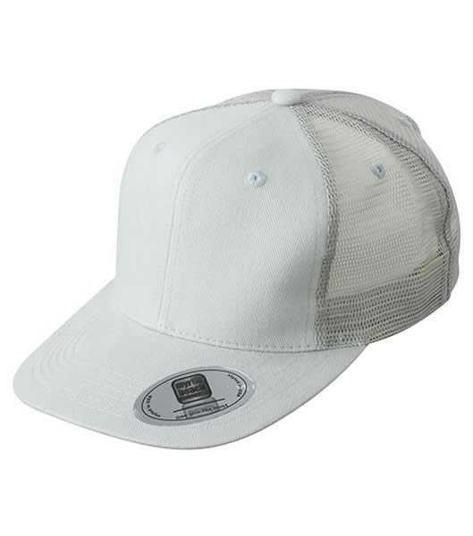 Czapka MB6509 6 Panel Flat Peak Cap - 6509_light_grey_MB - Kolor: Light grey
