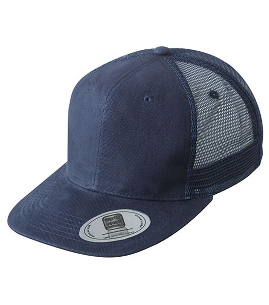 Czapka MB6509 6 Panel Flat Peak Cap - 6509_navy_MB - Kolor: Navy
