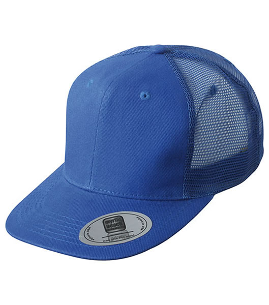 Czapka MB6509 6 Panel Flat Peak Cap - 6509_royal_MB - Kolor: Royal